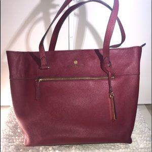 Vince Camuto ~ Burgundy Saffiano Leather Handbag
